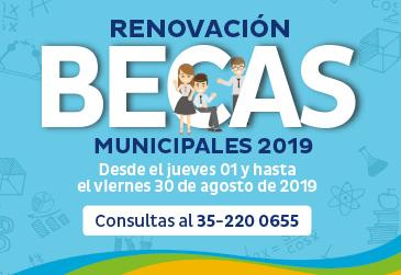 Proceso de renovación de Becas Municipales