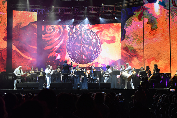 Orquesta Sinfónica Municipal de Santo Domingo se presentó junto a Los Jaivas en su 55º aniversario
